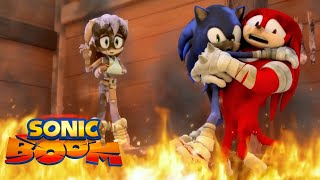 Sonic Boom | Fire in a Crowded Workshop 🔥 | Episode 45 | Animated Series