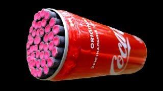 🔥ЭКСПЕРИМЕНТ ПЕТАРДЫ VS КОКА-КОЛА 🔴 EXPERIMENT Firecracker vs Coca-Cola