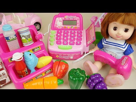 Baby Doll mart and cash register baby Doli play