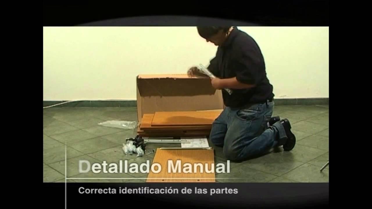 ARMADO DE MUEBLE CENTRO ESTANT  YouTube