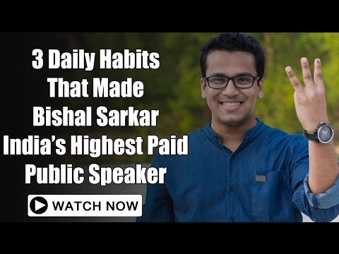 3 Public Speaking Habits of Public Speaking Expert Bishal Sarkar