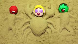 Chase Paw Patrol Playing in the Sand Castles Superhero Babies Stop Motion Cartoons for kids