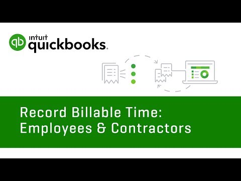How To Enter Billable Time: Employees & Contractors | QuickBooks Online US Tutorial 2018 |