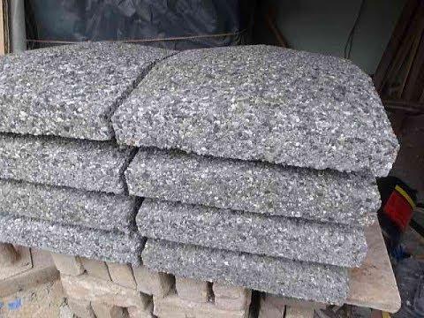 Бетонный колпак с мытого камня  для заборных столбов  своими руками