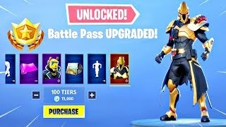 Buying ALL 100 TIERS in SEASON X BATTLE PASS! ALL Skins & Emotes UNLOCKED! (Fortnite Season 10)