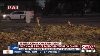 Wild chase, takedown caught on camera
