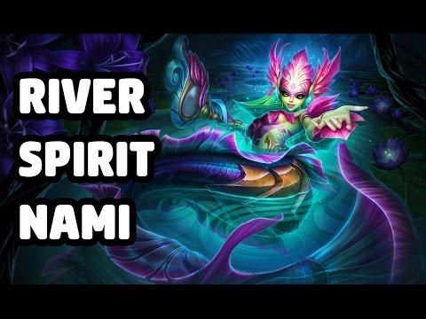 RIVER SPIRIT NAMI SKIN SPOTLIGHT - LEAGUE OF LEGENDS