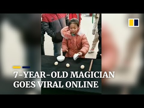 7-year-old magician goes viral online in China