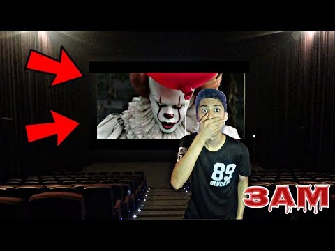DO NOT WATCH IT MOVIE ON CINEMA AT 3AM!! *OMG PENNYWISE CAME TO THE CINEMA*