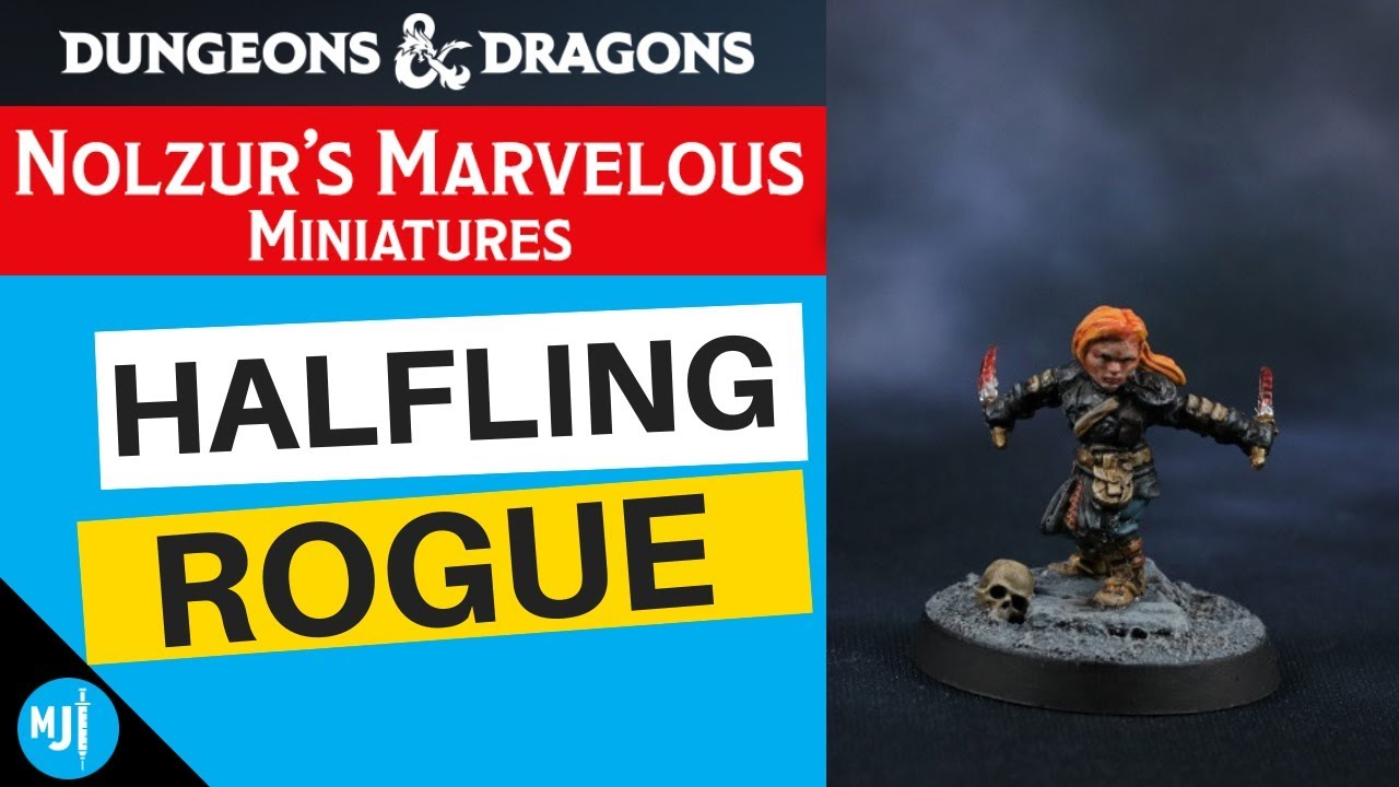 How To Paint A Nolzur's Marvelous Miniatures Dungeons & Dragons Halfling  Rogue