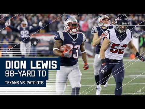 Dion Lewis 98-yard Kick Return for a Touchdown! | Texans vs. Patriots | NFL Divisional Highlights