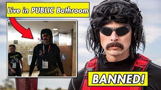 Dr Disrespect BANNED on Twitch For Streaming in PUBLIC Bathroom! Ninja and Tfue React