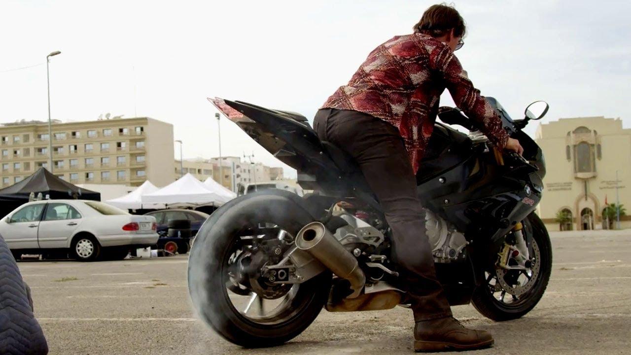 Sur Le Tournage De Mission Impossible 5 Cascades à Moto Youtube