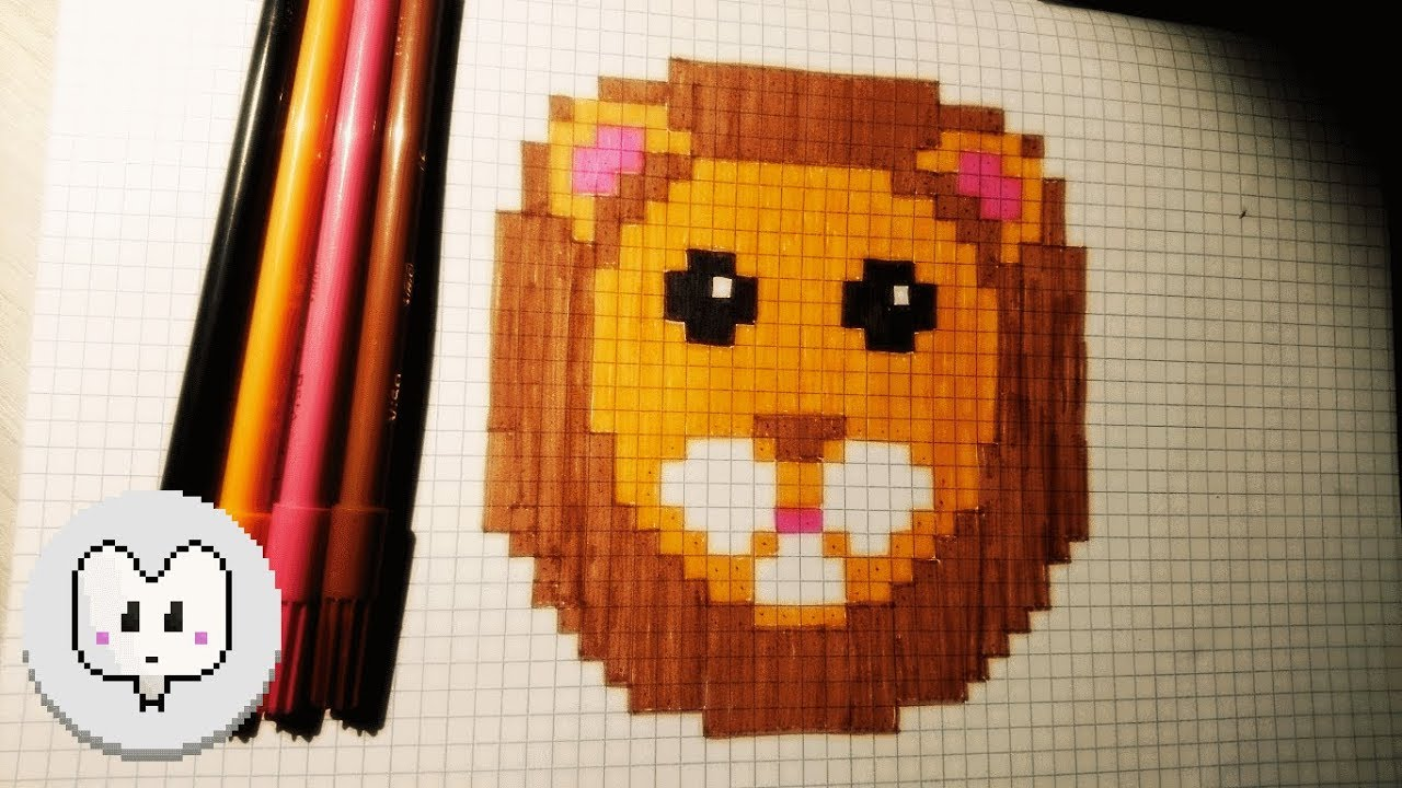 How Draw A Lion In Pixel Art