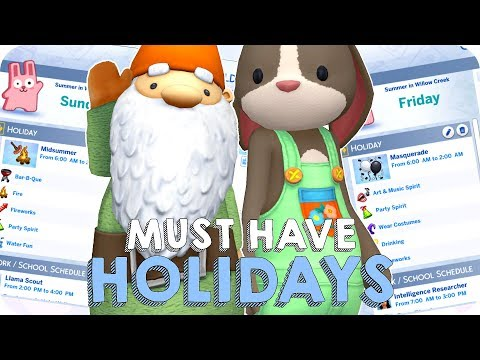 TEN MUST HAVE HOLIDAYS IN SIMS 4 SEASONS | The Sims 4 Seasons Calendar