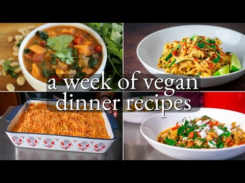 5 vegan dinner recipes // easy + healthy (what i eat in a week)