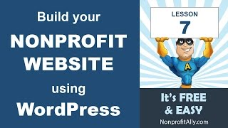 WordPress for Nonprofit Websites – Lesson Seven: Make your Donation Page