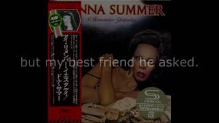 "Donna Summer - Love's Unkind LYRICS - SHM ""I Remember Yesterday"" 1977"