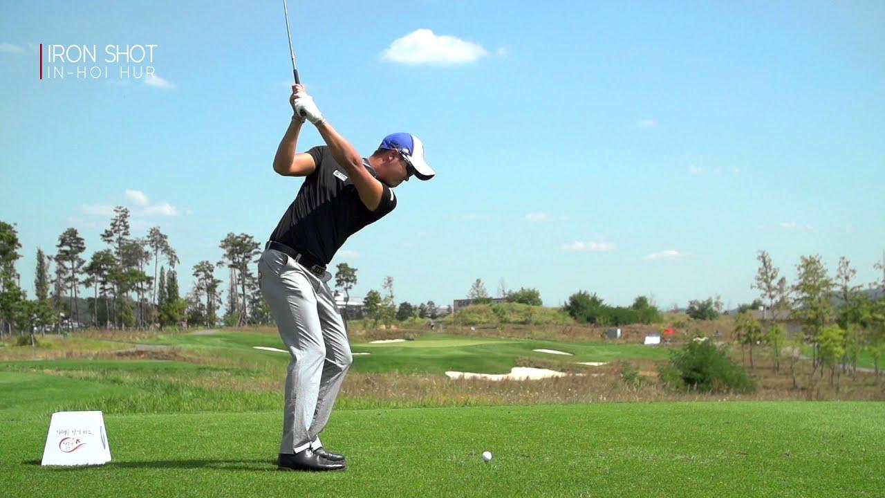 Golf 4 Less >> [골프스윙] 허인회 아이언 측면_Slow motion [스윙학개론_golf swing] - YouTube