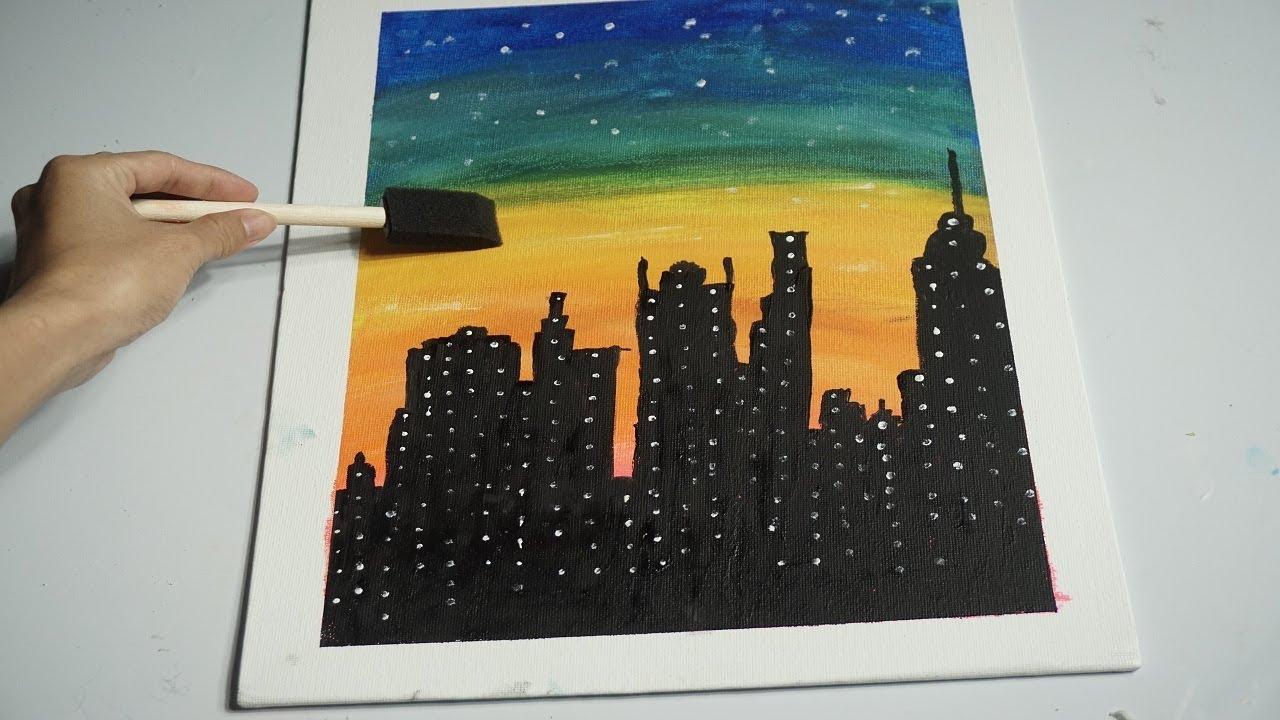 Tự vẽ tranh treo tường | Vẽ tranh treo tường đơn giản
