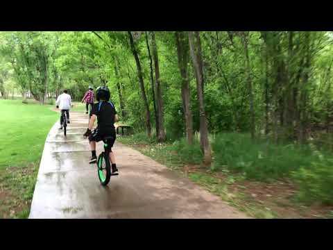 Happy Unicycle Week! (Fountain Creek, Manitou Springs)