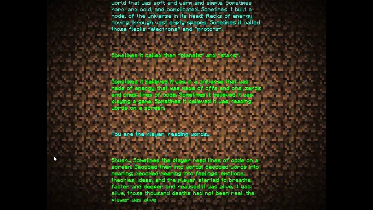 My Minecraft End Poem - YouTube