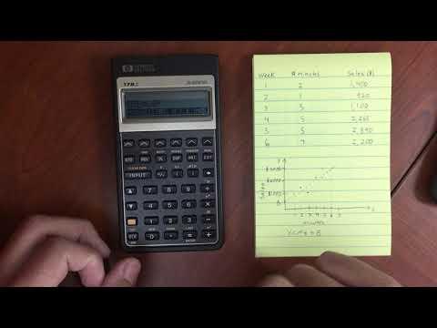 HP 17BII  Sum Menu and Linear Regression