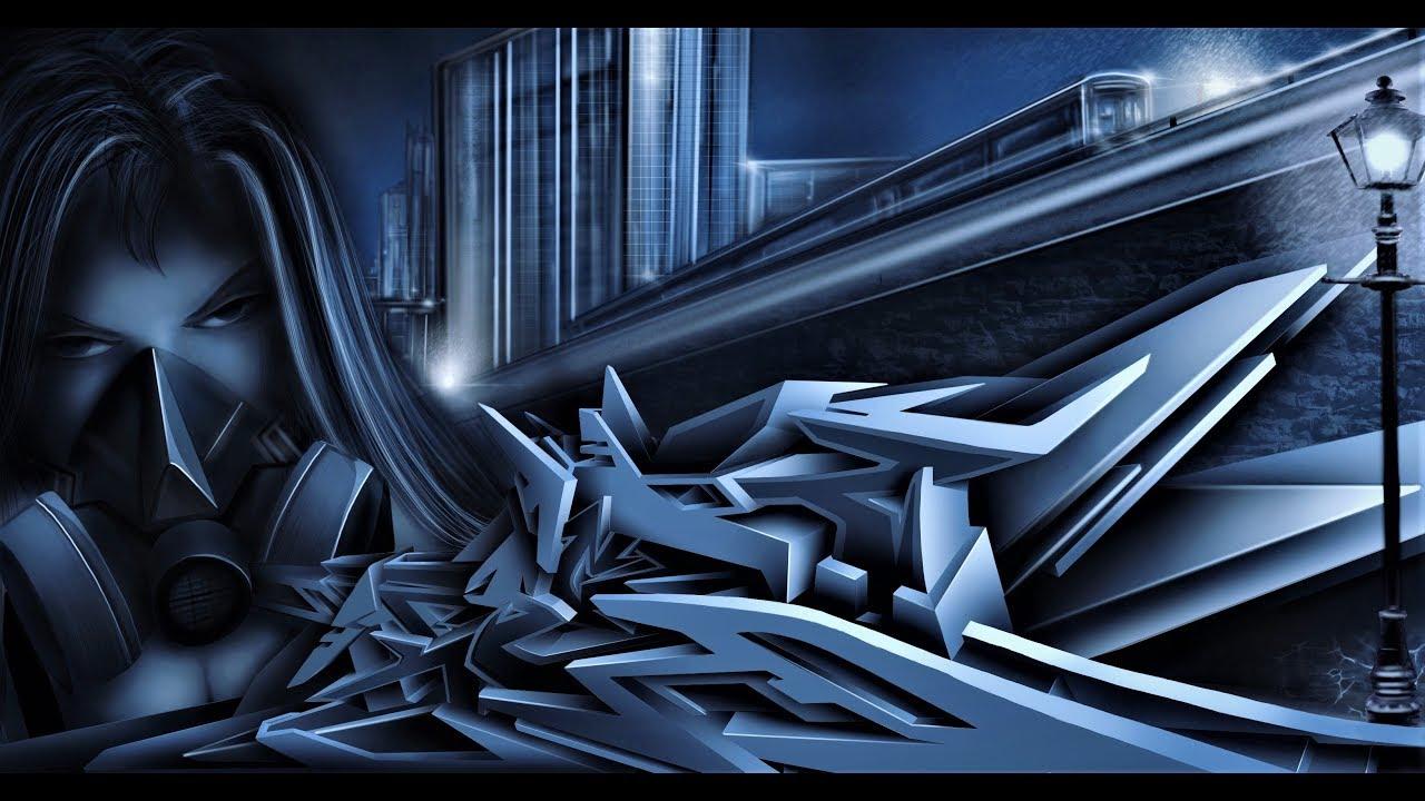 Graffiti 3d wildstyle illustration procreate knect1