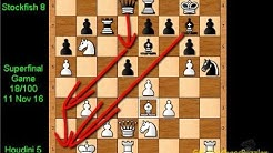 World's Best Chess Engines TCEC16  Houdini 5 vs Stockfish 8 SuperfinalGame 18