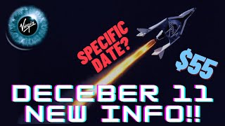 Virgin Galactic December 11th test flight NEW INFO!! Specific Date? SPCE Stock over $50 analysis