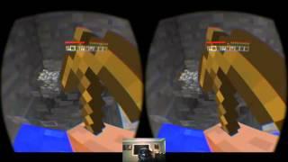 Майнкрафт ВР геймплей (модом Minecrift)