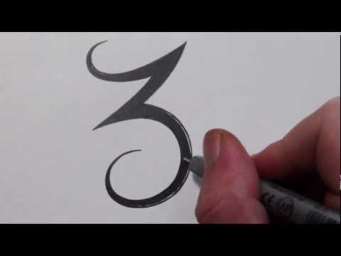 how-to-draw-a-simple-tribal-number-3