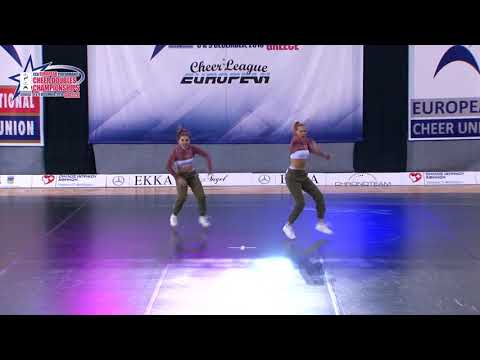31 SENIOR DOUBLE CHEER HIP HOP Janezic   Mezan SOVICE SLOVENIA