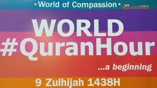 World, Merdeka #QuranHour begins; thousands to take part