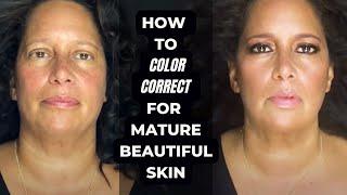 Mature Skin Makeup using color correctors + Youthful Dewy Makeup (NOT MATTE MAKEUP)
