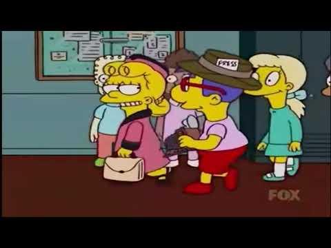 Mirenme soy Milhouse, me meto la camisa en los calzoncillos - Los Simpsons