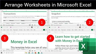 How to Arrange All Open Workbooks in Excel 2016 Tutorial | The Teacher