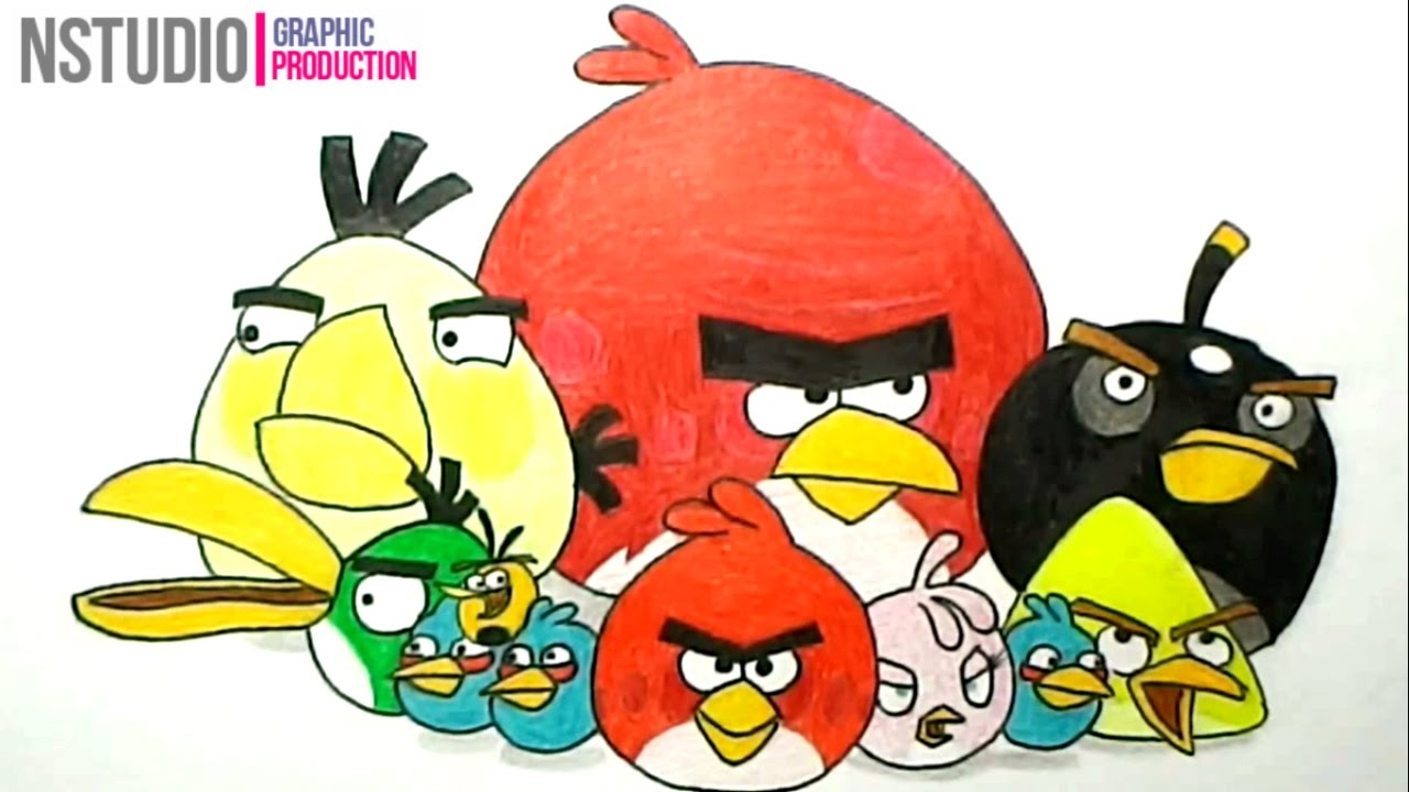 How To Draw Angry Birds Cartoons
