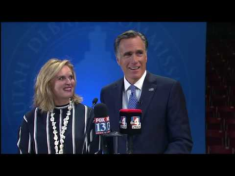 U.S. Senate Candidate Mitt Romney Answers Media Questions After Senate Debate