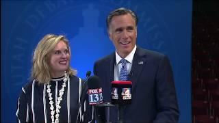 U.S. Senate Candidate Mitt Romney Answers Media Questions After Senate Debate