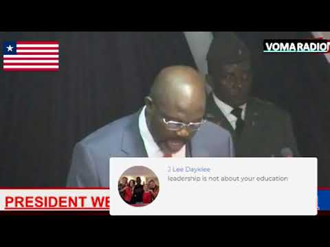 PRESIDENT GEORGE MANNEH WEAH, PRESIDENT OF THE REPUBLIC OF LIBERIA TO THE 54TH NATIONAL LEGISLISTURE