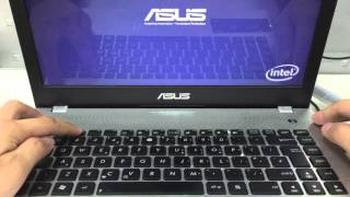 How to enter the BIOS configuration of my ASUS laptop?