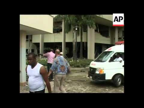 4:3 AP EXCLUSIVE Immediate aftermath of blast at UN office; minister