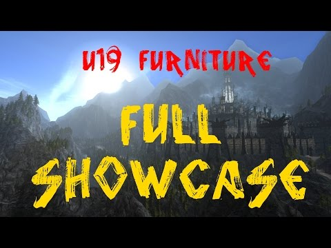 LotRO U19 Housing Furniture: FULL SHOWCASE