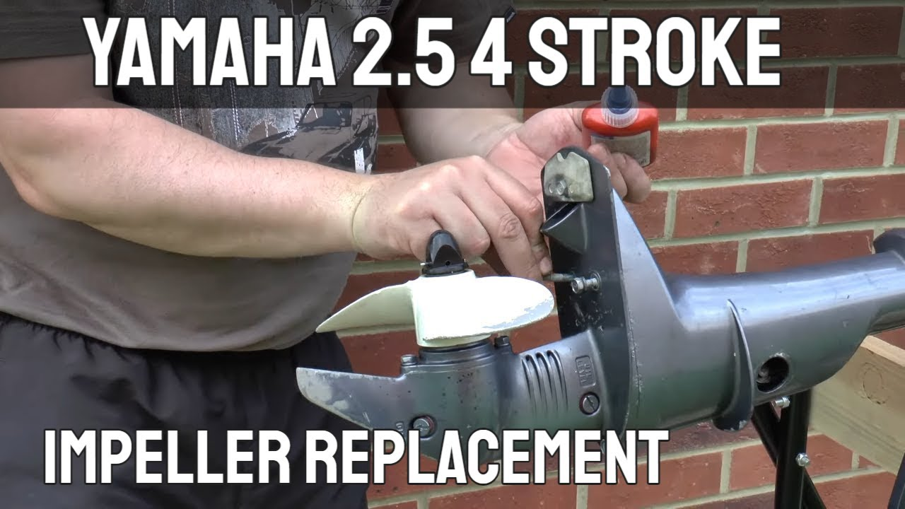 Yamaha 2.5hp 4 Stroke Outboard Motor Impeller Replacement