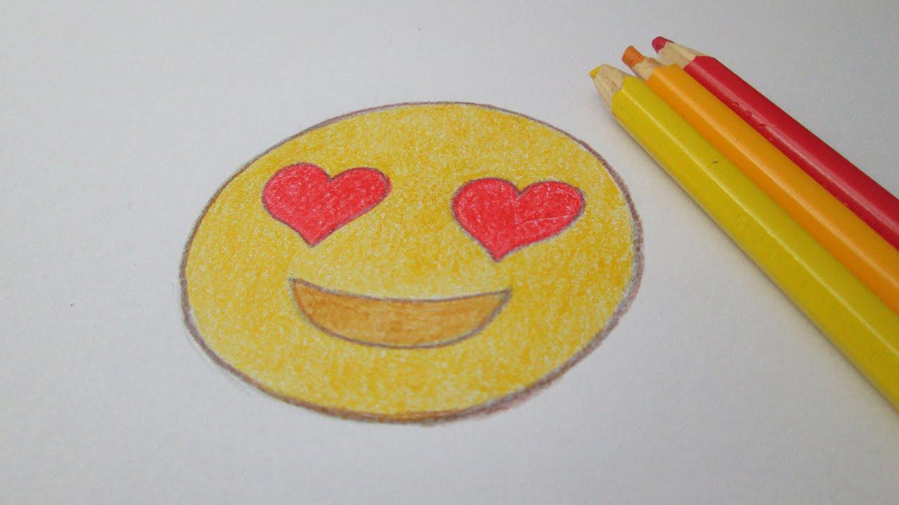 Cómo Dibujar Emoticon Apasionada Whatsapp