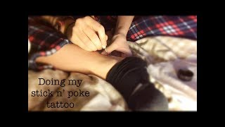 Doing My Stick N' Poke Tattoo // Amber
