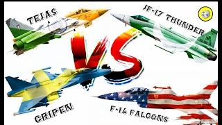 JF-17 Vs Hal Tejas Vs Gripen-E ( Light Combat Aircraft Comparison - 2017 )