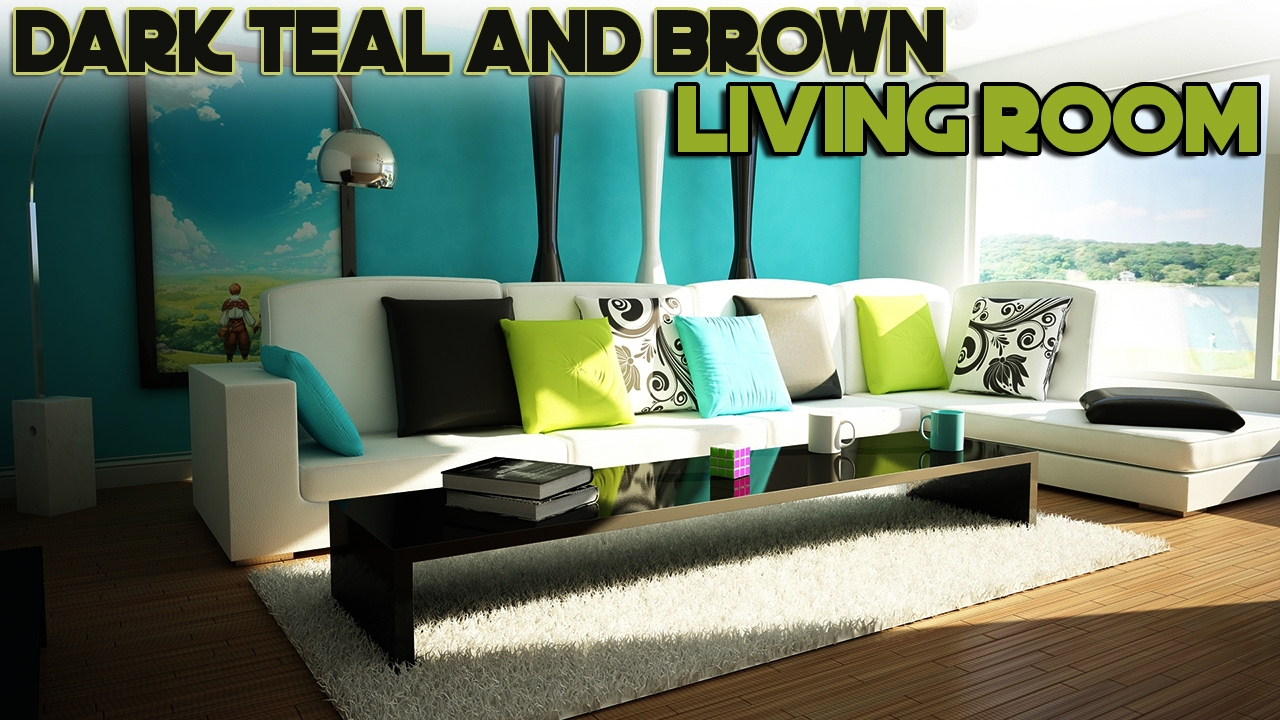 Daily Decor Dark Teal And Brown Living Room