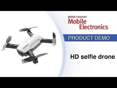 Selfie drone automatically follows